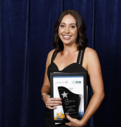 Claire Kavanagh Winner at 2018 WA Disability Supports Awards