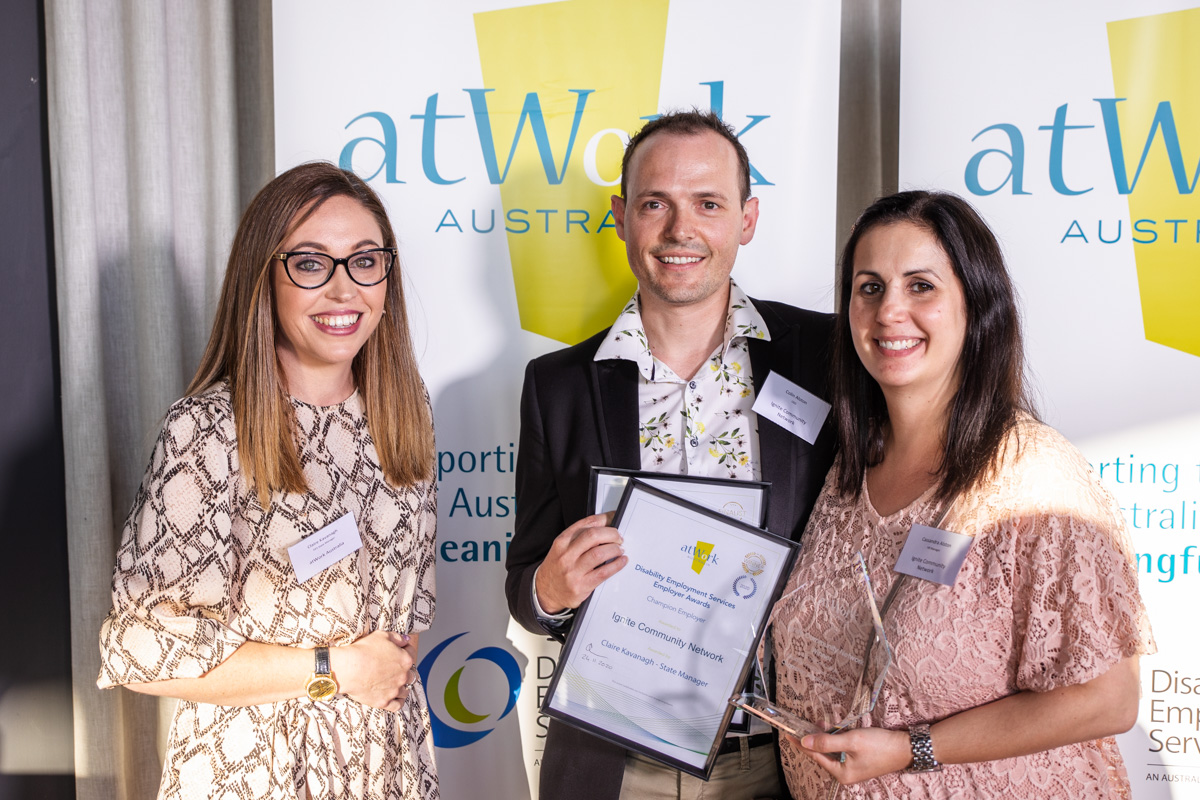 Winners of atWork Australia's 2020 WA DES Employer Awards announced